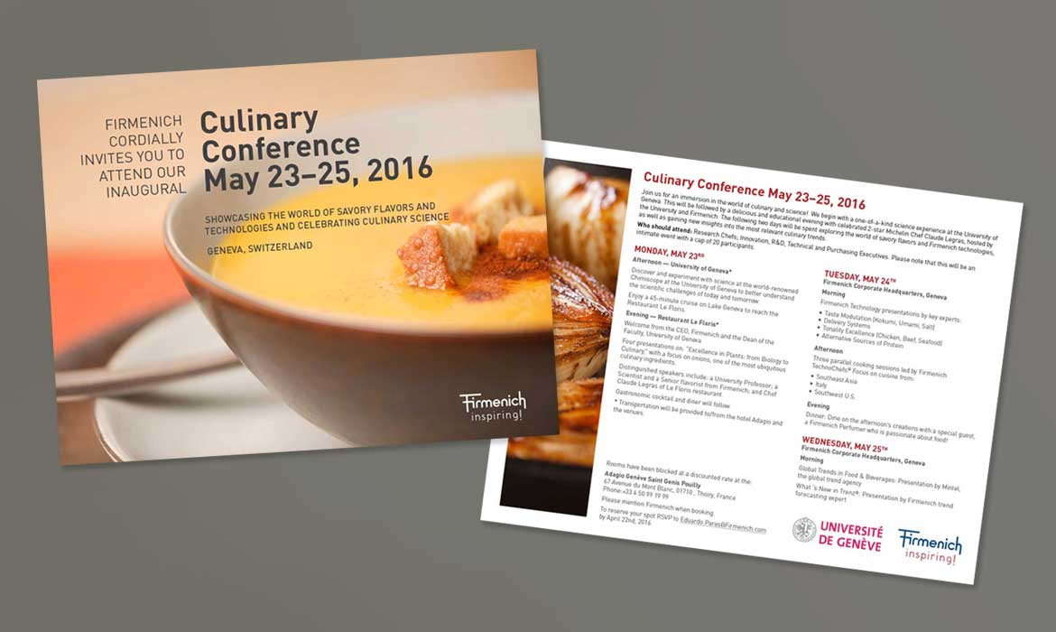 Culinary Workshop Brochure